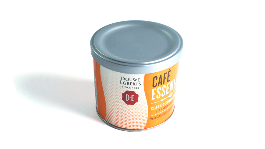 Packaging for cofee Essence with a bean textured lid photo 1