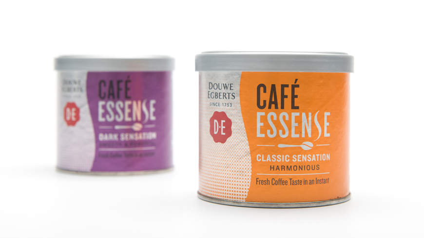 Packaging for cofee Essence with a bean textured lid photo 3