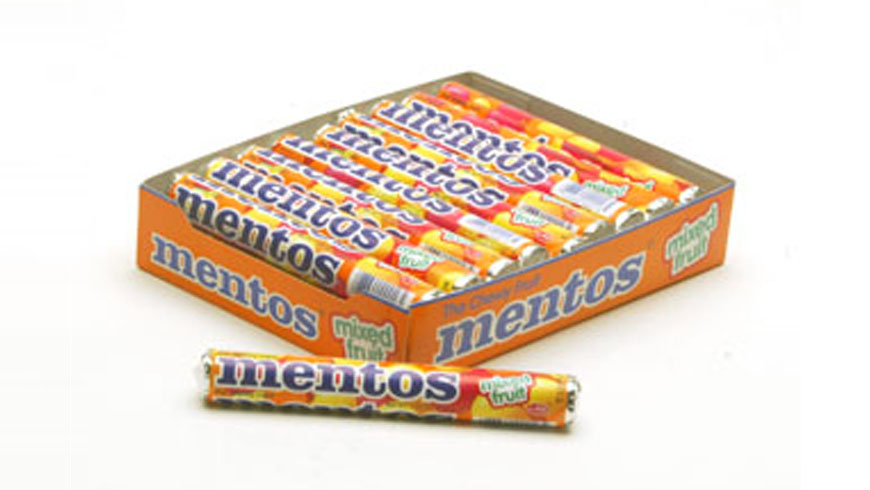 Display for Mentos sweet-rolls photo 1