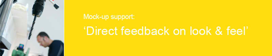 Banner 'Direct feedback on look & feel'